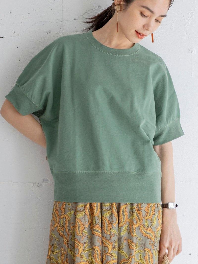coen_more20 coen レディース カットソー 激安通販販売 コーエン SALE 40%OFF CVCインレイドルマンショートスリーブスウェット スウェット ホワイト RBA_E 大規模セール Fashion オレンジ ブラック Rakuten パープル ベージュ