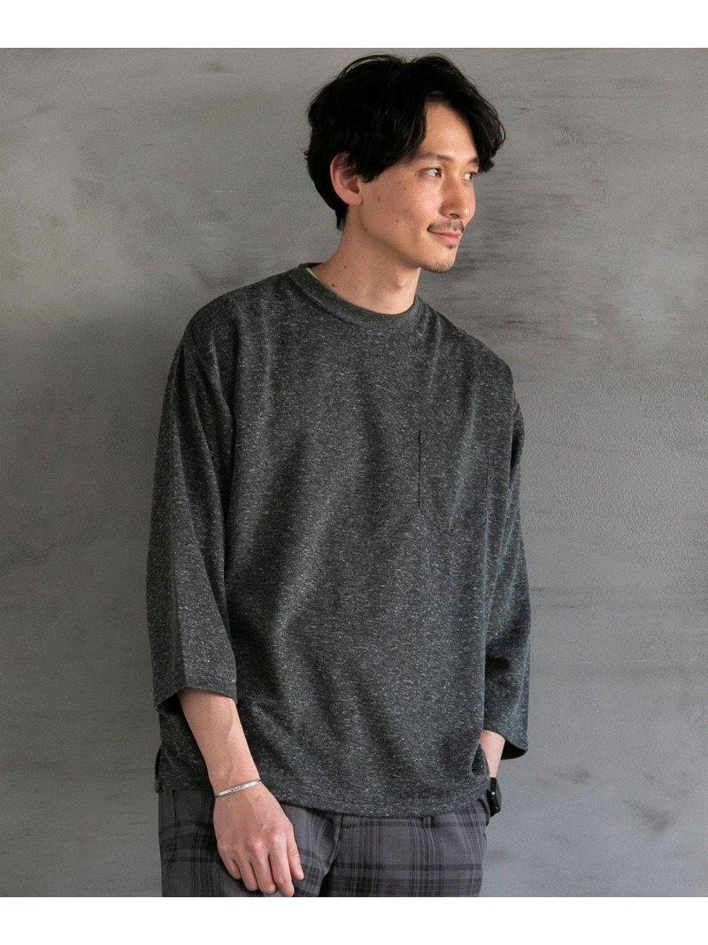 coen_more20 0528_coen coen メンズ カットソー コーエン SALE 70%OFF ハイクオリティ 7分袖Tシャツ ブラック ベージュ 輸入 RBA_E Tシャツ ヨクバリネン Rakuten Fashion