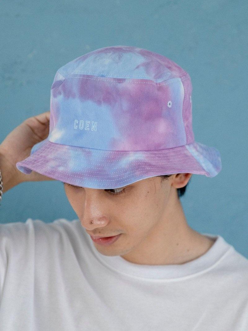 coen_more20 coen メンズ 帽子 ヘア小物 コーエン 永遠の定番モデル おすすめ特集 SALE Fashion Rakuten 37%OFF 帽子その他 RBA_E タイダイロゴバケットハット