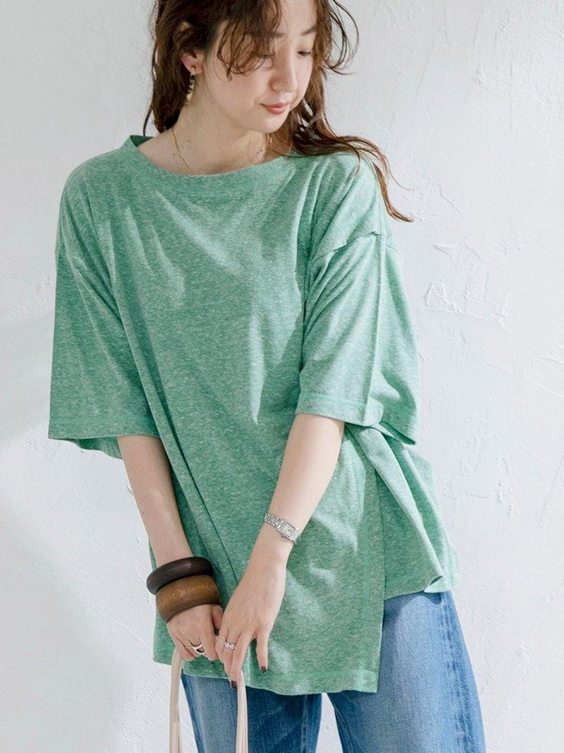 coen_more20 coen レディース カットソー コーエン SALE 62%OFF フロント斜めレイヤーTシャツ Fashion 特売 爆売りセール開催中 カーキ パープル ベージュ RBA_E Rakuten Tシャツ