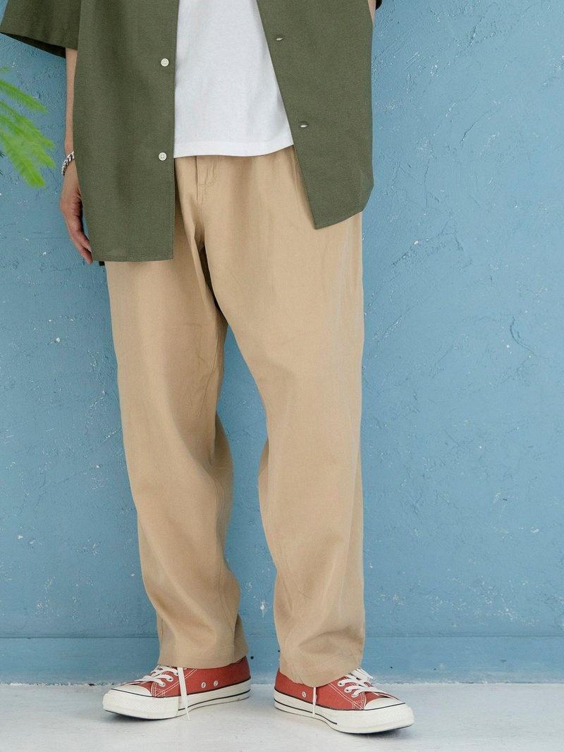 サービス coen_more20 coen メンズ パンツ ジーンズ コーエン SALE 44%OFF ベージュ フルレングス オンラインショッピング ホワイト ブラック Fashion Rakuten RBA_E 2タックワイドテーパードパンツ