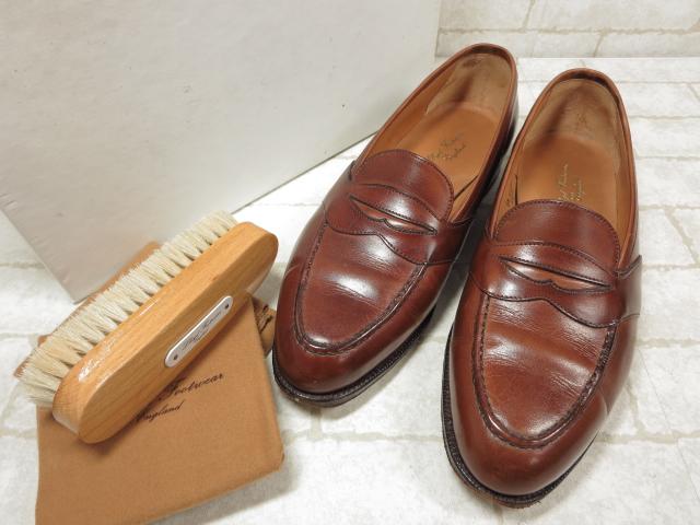 美品 【ロイドフットウェア】 マスターロイド コインローファー (メンズ) size6.5 E184 紳士靴 ブラウン  ◯MZ2870◯ 【中古】