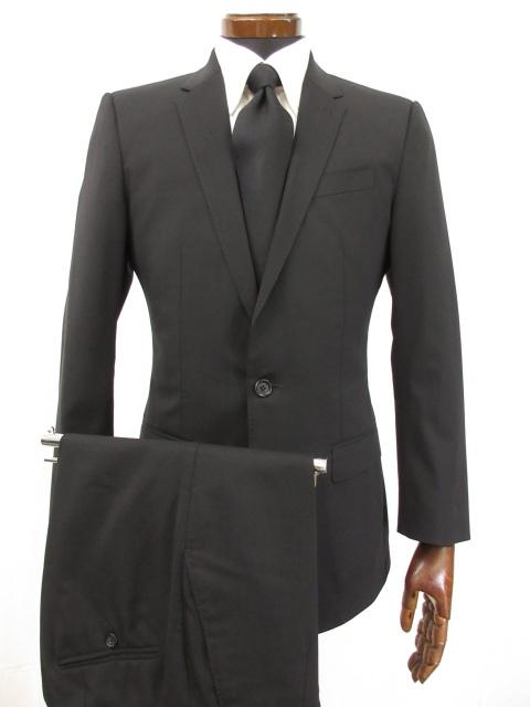 【ドルチェ&ガッバーナ DOLCE&GABBANA】 MARTINI シングル2ボタン スーツ (メンズ) size44 Drop7R ブラック 黒無地 ●5MS5167●【中古】