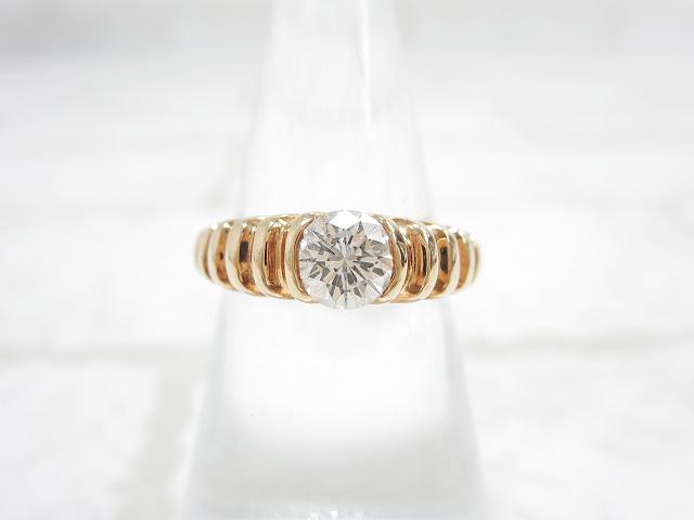 【ブルガリ BVLGARI】 大粒ダイヤリング 0.5ct 指輪 (レディース) 750YG イエローゴールド パレンテシ □KN026□ 【中古】