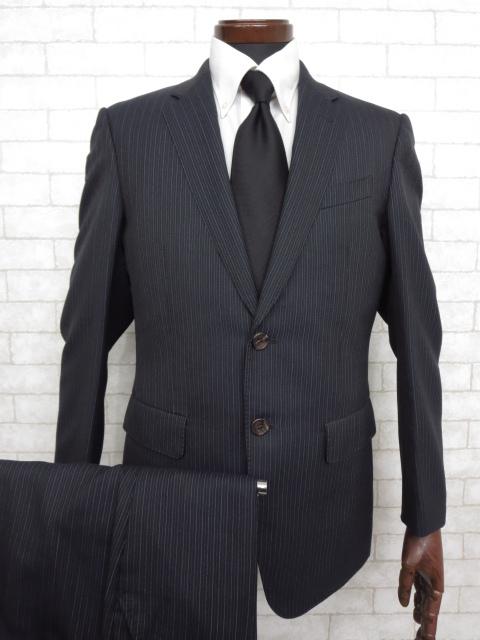 【ポールスミス コレクション Paul Smith】ストライプ柄 2つボタンシングル スーツ (メンズ) ネイビー sizeM  ◇MS2291◇【中古】