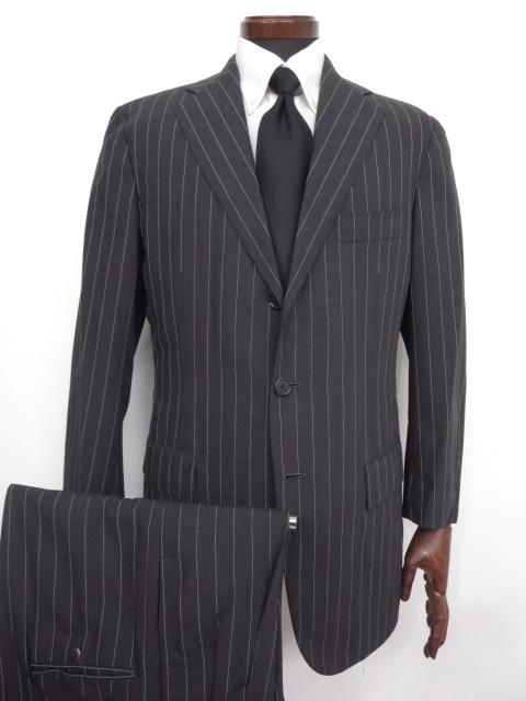 美品【チェザーレアットリーニ】SUPER190's ストライプ柄 スーツ (メンズ) size48 チャコールグレー ◇MS2412◇ 【中古】
