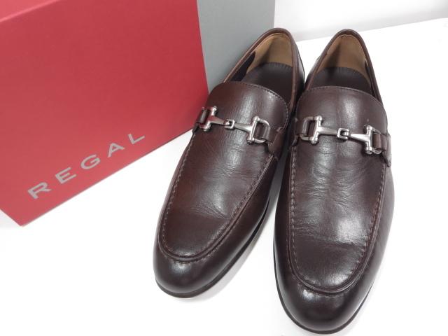 未使用 【リーガル REGAL】レザービットローファー (メンズ) ブラウン size25.5 紳士靴  ◇MZ3538◇【中古】