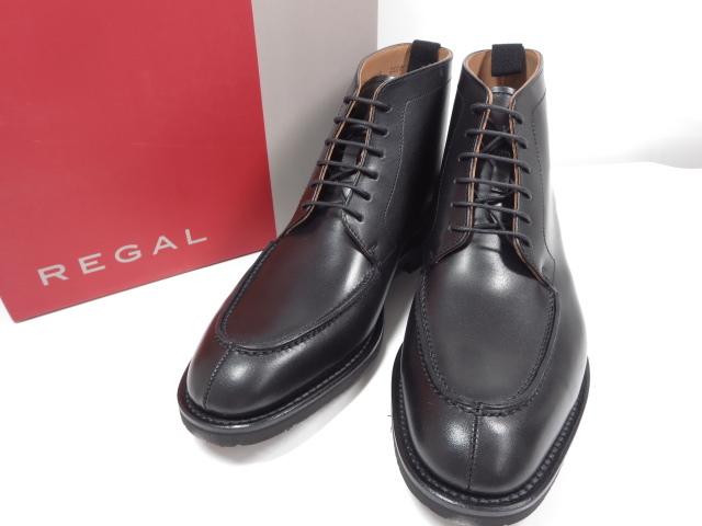 未使用 【リーガル REGAL】ジェオックスGEOX レザーブーツ (メンズ) ブラック size25.5 紳士靴  ◇MZ3540◇ 【中古】