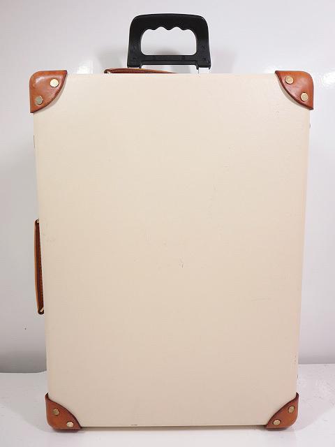 【グローブトロッター GLOBE-TROTTER】センテナリー トロリーケース 18インチ (男女兼用) スーツケース 黒×茶  ◇SC0081◇【中古】