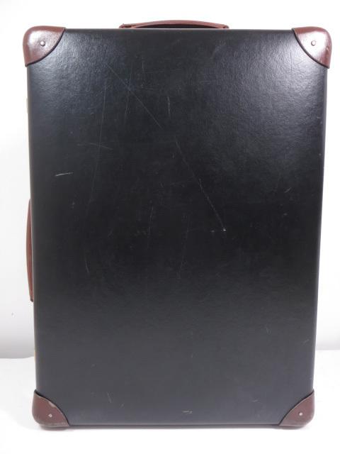 【グローブトロッター GLOBE-TROTTER】センテナリー トロリーケース 18インチ (男女兼用) スーツケース 黒×茶  ◇SC0080◇【中古】