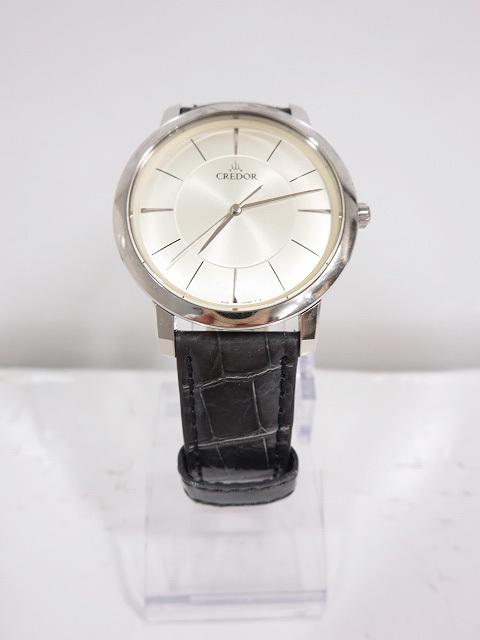 美品 【セイコー クレドール CREDOR】8J81 0AE0 薄型 クォーツ腕時計 11月電池交換済み (メンズ)    ◇CC0189◇【中古】