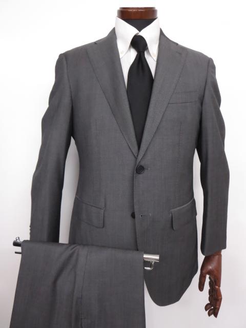 超美品 【スーツカンパニー THE SUIT COMPANY】2つボタン シングルスーツ (メンズ) Super110's シャンブレー 165cm-6Drop ◇MS2608◇ 【中古】