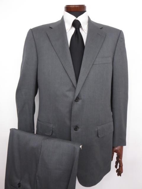 美品 【コルネリアーニ CORNELIANI】 Super120's 織柄 ウール シングル スーツ (メンズ) グレー size50 ◇MS2629◇ 【中古】