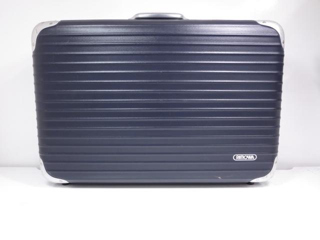【リモワ RIMOWA】 リンボインテグラル Limbo Integral スーツケース 56L (メンズ レディース) ネイビー×シルバー ◇SC0091◇【中古】