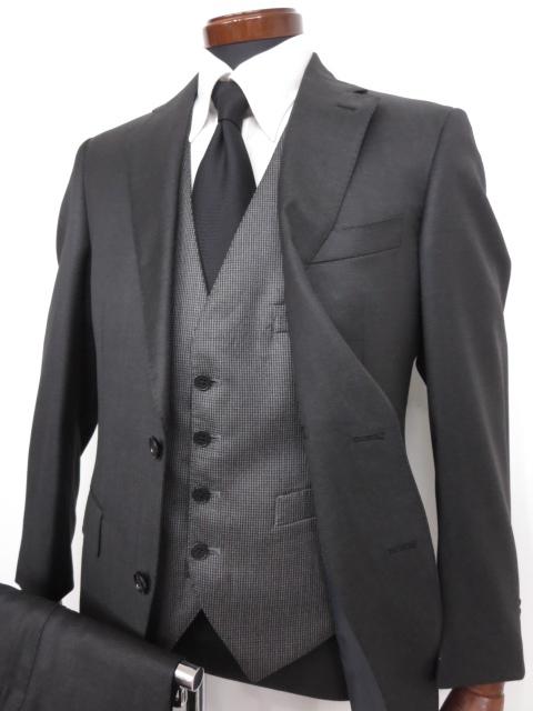 f5060d1d2eea0 極美品  スーツカンパニー THE SUIT COMPANY  REDA 微光沢 シングル 3ピース スーツ (メンズ) グレー  165cm-6Drop ◇MS2658◇  中古  Super110 s-スーツ