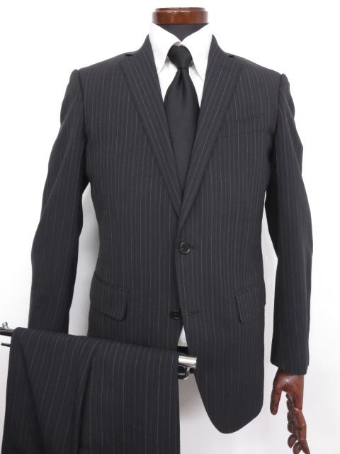 美品 【スーツカンパニー SUITSCOMPANY】ストライプ柄 シングル 2つボタン スーツ (メンズ) ネイビー size175cm-8Drop ◇MS2669◇【中古】