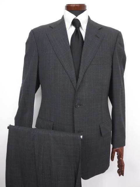 【ブルックスブラザーズ Brooks Brothers】 格子柄 ウール素材 シングル スーツ (メンズ) チャコールグレー size38R ◇MS2676◇ 【中古】
