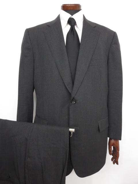 【ブルックスブラザーズ Brooks Brothers】 ウール素材 ストライプ柄 シングル スーツ (メンズ) チャコールグレー size42 ◇MS2711◇【中古】