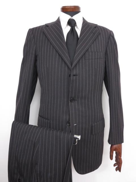 訳あり 【キートン KITON】バーニーズ購入 ストライプ柄シングルスーツ (メンズ) チャコールグレー size44-R8   ◇MS2700◇ 【中古】
