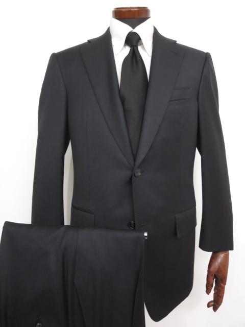 超美品 【ベルベスト Belvest】 Super110's 紺無地 濃紺 ウール シングル スーツ (メンズ) ネイビー size48 バーニーズ ★MS2890★ 【中古】