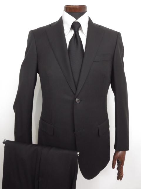 超美品 【ポールスチュアート Paul Stuart】 ストライプ柄 ウール シングル スーツ (メンズ) ブラック size39S ★MS2902★ 【中古】