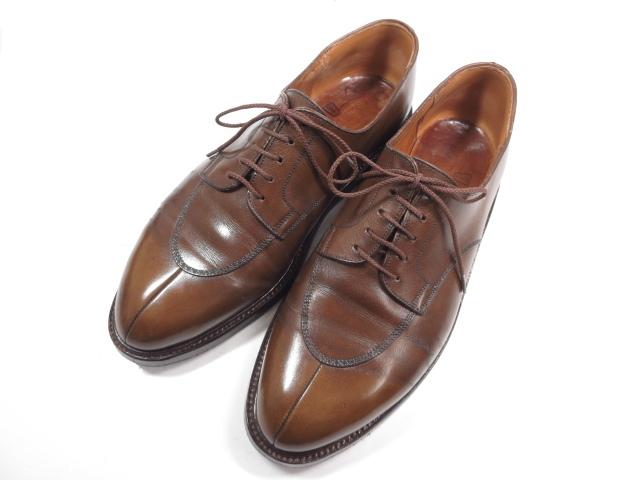 【JMウエストン】 旧ロゴ 598 ロジェ スプリットトゥダービー シューズ (メンズ) ブラウン size8D ダブルソール 紳士靴 ★MZ3794★【中古】