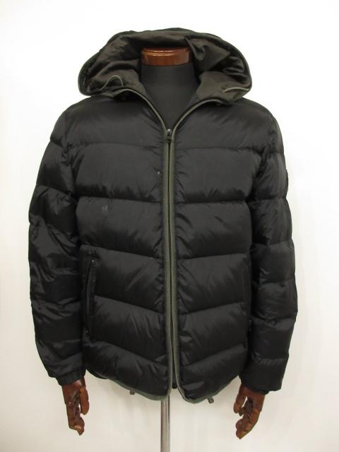【リプレイ REPLAY】フード付き ダウンジャケット (メンズ) sizeL ブラック 防寒性・機能性◎  ★MB0956★ 【中古】