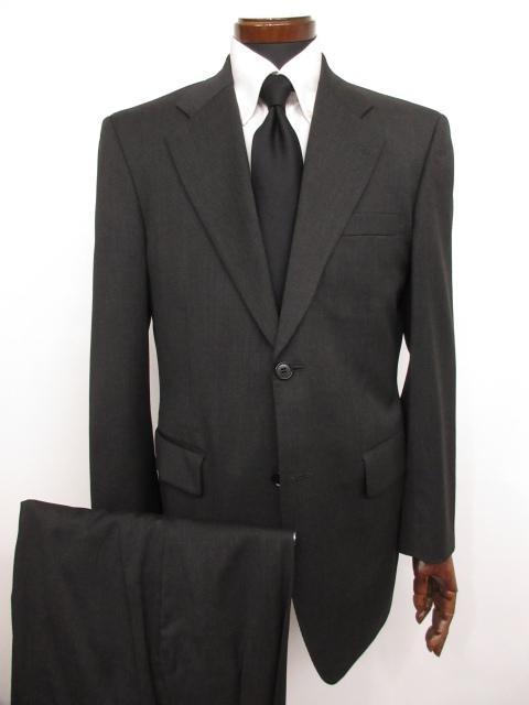 美品 【ダーバン Durban】ロロピアーナ生地使用 シングル2ボタン スーツ (メンズ) チャコールグレー size94A6 オーダースーツ ★MS3132★ 【中古】