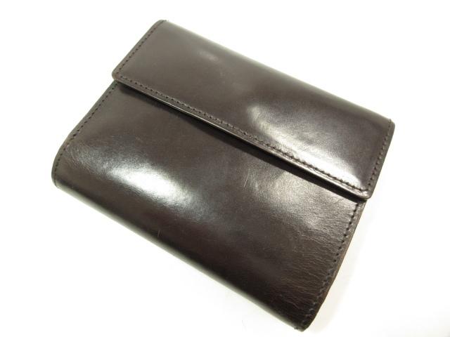 【ココマイスター COCOMEISTER】 ブライドルレザー 小銭入れ付き 二つ折り 財布 (メンズ) ダークブラウン ★ME2304★ 【中古】