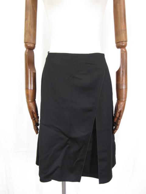 超美品 【フォクシー FOXEY】 ウール フレアースカート size40 (レディース) ブラック系 18795-ASAY44 ◎5LF2064◎ 【中古】