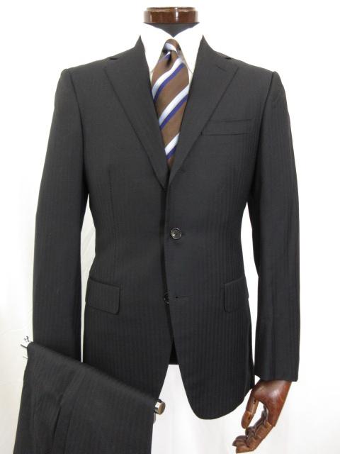 超美品 【ビームスF BEAMS F】 シングル3つボタン ストライプ柄 スーツ (メンズ) size93 ウール素材 2117-1089-110-J2 ◎3MS3918◎【中古】