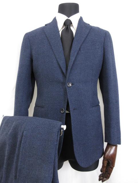超美品 メーカー公式 スティレラティーノ Stile Latino シングル3ボタン 段返り 中古 メンズ スーツ size44 青みのあるネイビー 入手困難 ■3MS7788■