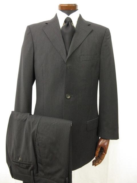 【グッチ GUCCI】シングル3ボタン スーツ (メンズ) size50 ブラック 黒無地 冠婚葬祭にも♪ ●6MS5011● 【中古】
