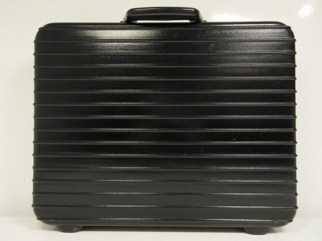 【リモワ RIMOWA】 ドイツ製 リンボ LIMBO 14L ポリカーボネート アタッシュケース ビジネスバッグ (メンズ) ブラック ●2MG1262● 【中古】