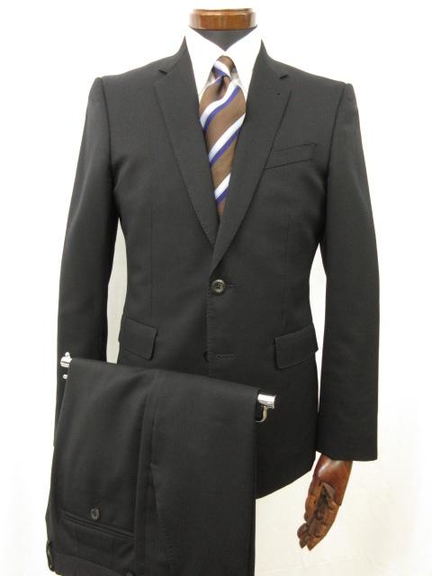 【ポールスミス ロンドン Paul Smith LONDON】 2ボタン ストライプ織り スーツ (メンズ) sizeL ブラック PL-ST-54230 ●3MS4965● 【中古】