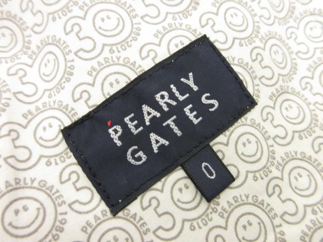 未使用品パーリーゲイツ PEARLY GATESベルベット切替え ミニスカートレディースsize0 グレー×レッド 定価3万+税8LF23630PN8nkwOX