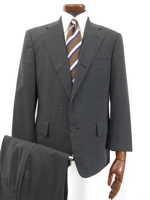 超美品 【ブルックスブラザーズ Brooks Brothers】シングル3ボタン 段返り 織柄 お得な2パンツ スーツ (メンズ) ネイビー系 ●6MS5798● 【中古】