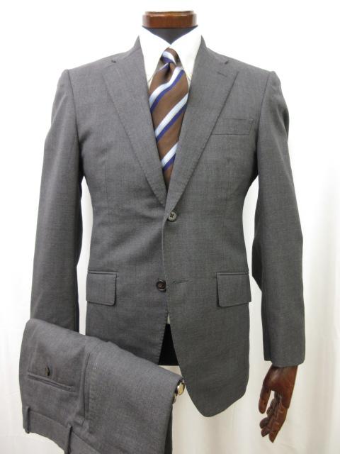【麻布テイラー azabu tailor】 シングル2ボタン 無地 スーツ (メンズ) size046A グレー系   ●6MS5669● 【中古】