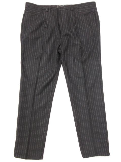 超美品 ジーンリューク GEAN 超激得SALE LUC ウール スラックス パンツ 11MP5930 メンズ 中古 スーパーセール期間限定 ストライプ柄 ブラック size54