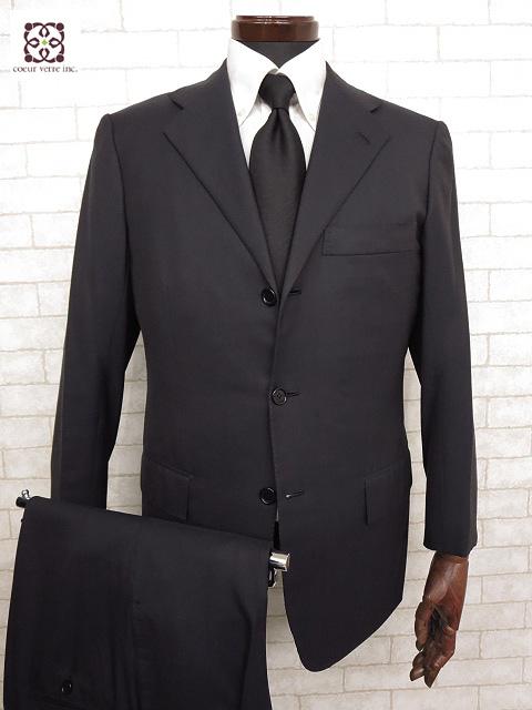 最高級 【キートン キトン KITON】 14Micron シングル スーツ (メンズ) SUPER180's ウール素材 ネイビー 3ボタン size46   □MS1619□ 【中古】