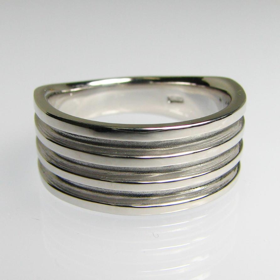 幅広デザイン地金リング K18WG/YG/PG 送料無料 品質保証書 指輪 ご褒美