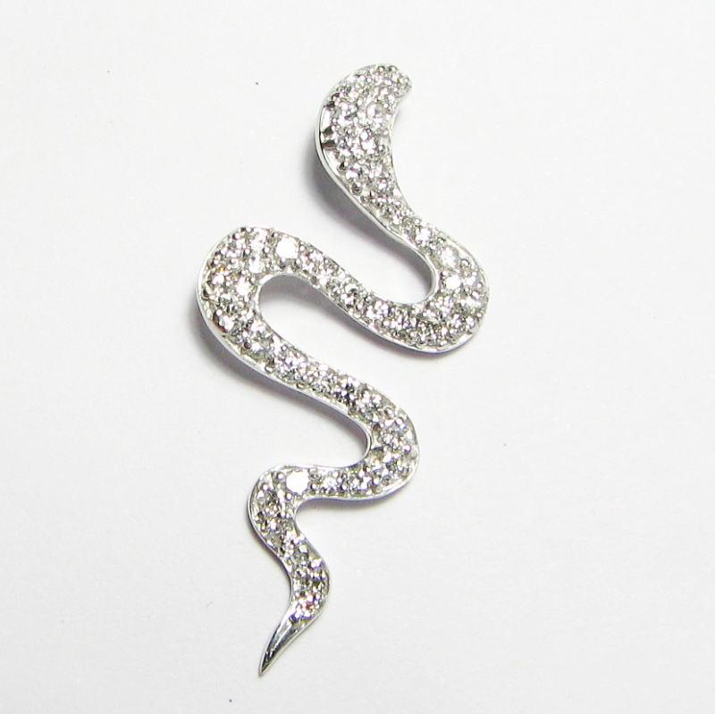 全身ダイヤモンドのヘビ 0.50ct ペンダント  K18YG・WG・PG 金運上昇 蛇 へび