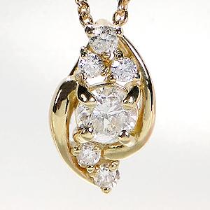 K18WG/YG/PG【0.2ct】【H-SIクラス】ダイヤモンド ネックレス【無色透明】【送料無料】ダイヤネックレス 可愛い ジュエリー 人気 ダイヤペンダント 4月誕生石 プレゼント ダイヤ ダイア 0.2カラット クリスマス 品質保証書 Xmas