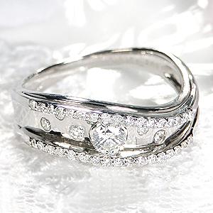 Pt900 ダイヤモンド リング【無色透明】【H-SI2クラス】【0.40ctUP】【送料無料】ジュエリー 人気 レディース 指輪 個性的 豪華 4月誕生石 品質保証書 指輪 ご褒美 プレゼント プラチナ ダイヤリング ダイア