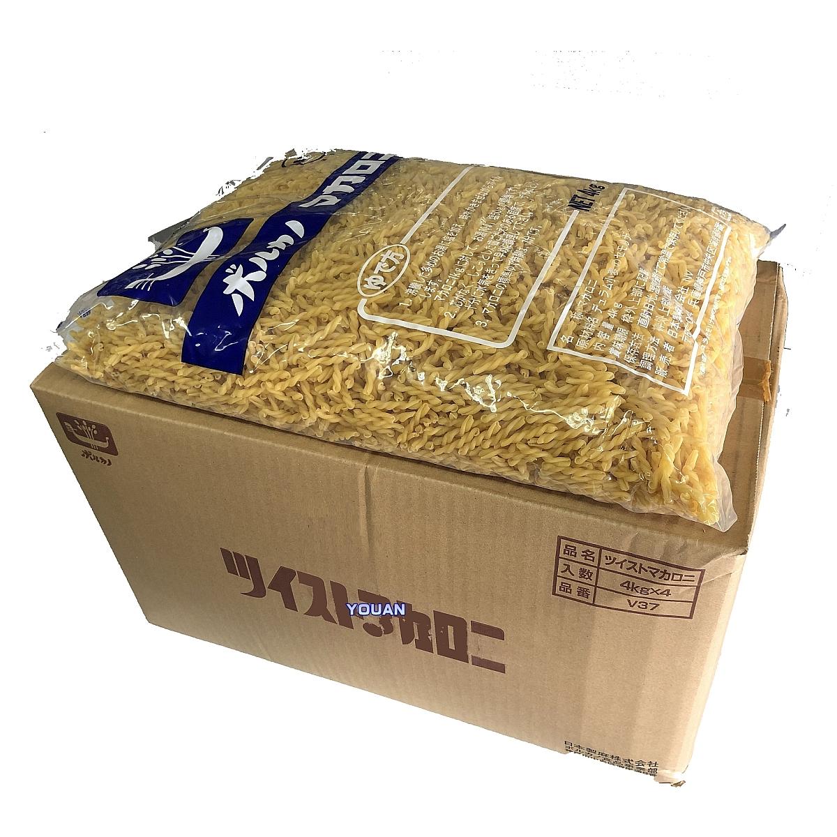 業務用 ボルカノ マカロニ【ツイストマカロニ V37 (4kg×4袋)】