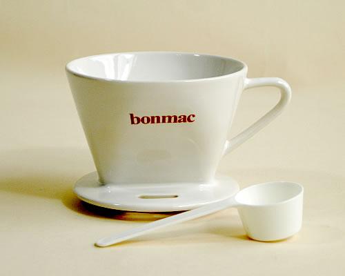大人気 器具 消耗品Bonmac 陶器製ドリッパー メーカー直送 白 2~4杯用