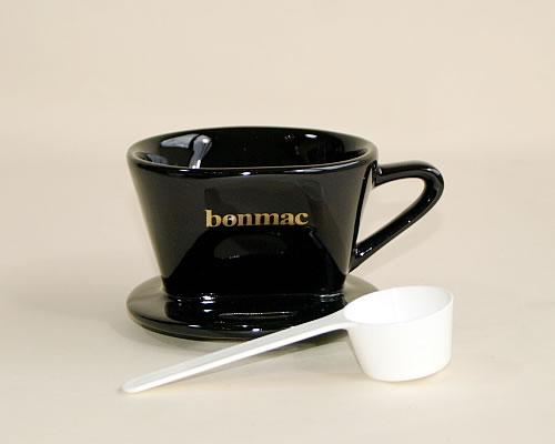 人気 開催中 器具 消耗品Bonmac 陶器製ドリッパー 黒 1~2杯用