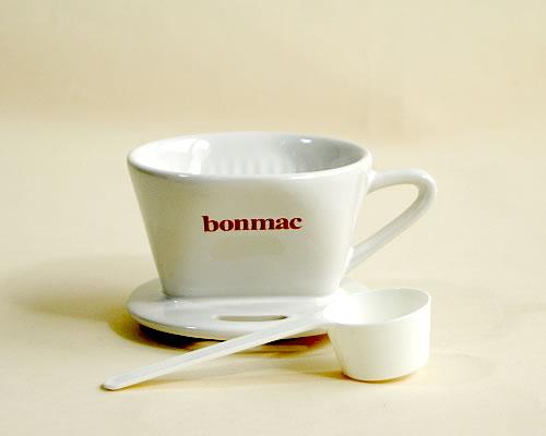 メーカー: 限定特価 発売日: 器具 マート 消耗品Bonmac 1~2杯用 白 陶器製ドリッパー