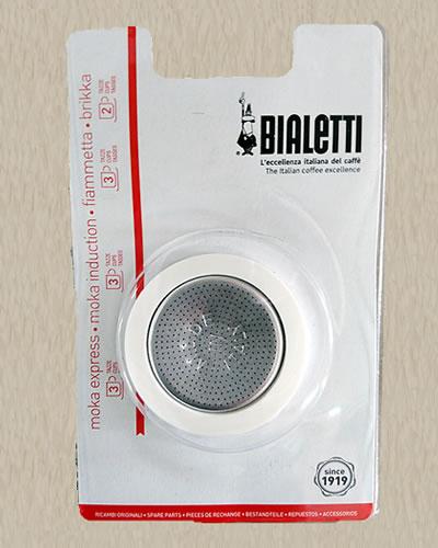 ビアレッティ モカエキスプレス 人気 3人用ゴムパッキン 高品質新品 フィルターセット 4人用兼用