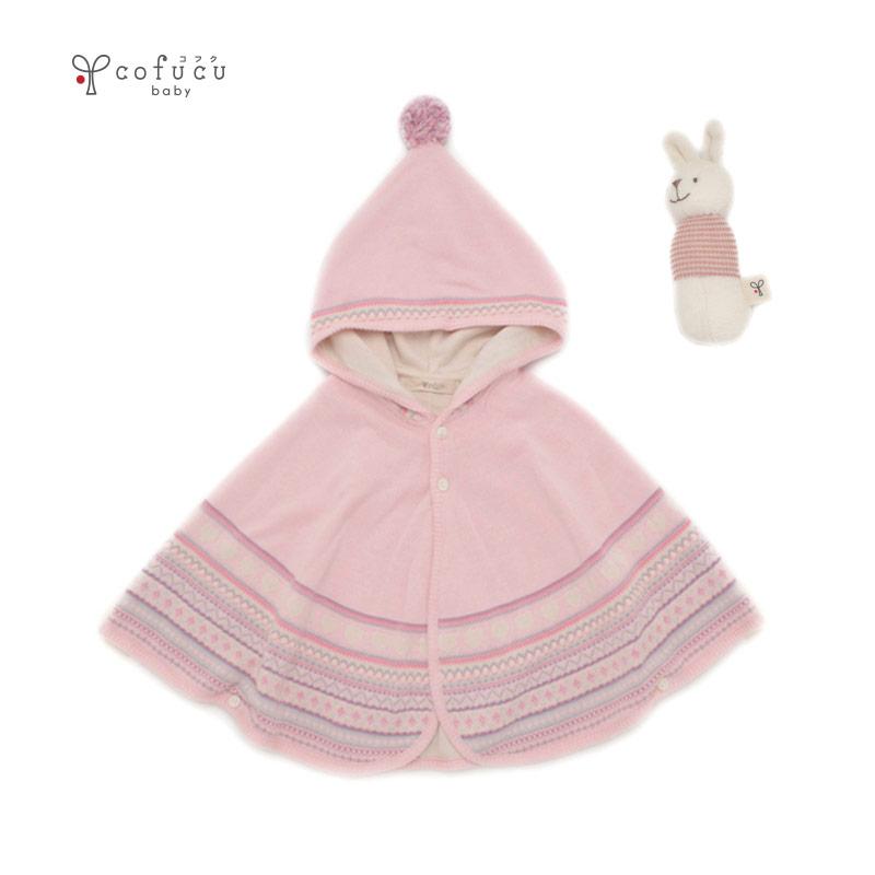 cofucu オーガニックコットン ふんわりカラフルセット ピンク |コフク 日本製 ベビー服 敏感肌 出産祝い 内祝い 自